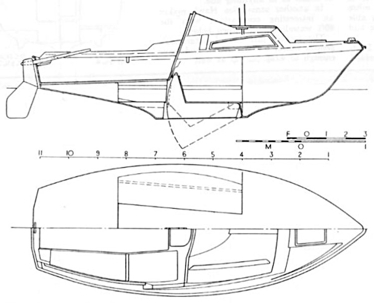 Yachting World - Hull Plan and Elevation